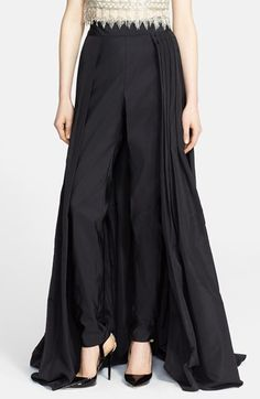 Naeem Khan Silk Faille Ball Skirt with Attached Cigarette Pants available at #Nordstrom
