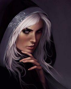 fnatasy art glass thrones | Varich Sidhe - silver hair [ female, wizard, sorcerer, ... | Fantasy