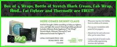 The best bundle yet! 4 wraps, stretch mark cream, fab wrap... FAT FIGHTERS AND THERMOFIT FREE! Call/text now 509-828-8871