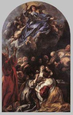 Assumption of the Virgin - Jacob Jordaens. c.1650-70. Oil on canvas. 280 x 178 cm. Museum voor Schone Kunsten, Ghent, Belgium.