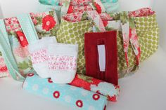 Girl. Inspired. {sewing, crafts, party inspiration}: Baby Doll Diaper Bags. I love that Sophia enjoys her baby dolls so much! She would love this!