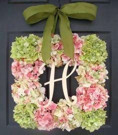 Square floral wreath