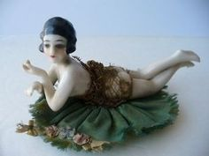 Antique-Flapper-Art-Deco-Germany-Bathing-Nude-Beauty-half-doll-pin-cushion