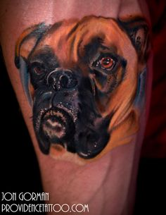 The Best Boxer Tattoo Designs In The World Boxer Dog Tattoo, Dog Tattoos, Animal Tattoos, Boxer Puppies, Different Tattoos, Photo Charms, Four Legged, Tattoo Designs, Tattoo Ideas
