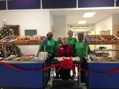 From Eat Right, Be Bright in Macon (GA), at Taylor Elementary Dr. Susan Simpson, Principal and the School Nutrition Staff with their beautiful Breakfast in the Classroom (BIC) Kiosk, ready to serve ALL students.