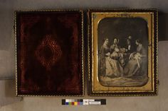 Tableau with a man and three women | Daguerreotypes collection, ca. 1845-1865 (PC005) -- Historic New England