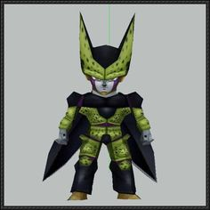 Dragon Ball - Chibi Perfect Cell Free Papercraft Download