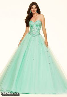 Prom Dress 98006 Jeweled Beading on a Tulle Ball Gown