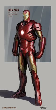 Check out Iron Man concept art by Phil Saunders ! Once upon a time there was a little movie called Iron Man . Hq Marvel, Marvel Comics Art, Marvel Comic Universe, Batman Universe, Marvel Cinematic Universe, Mundo Marvel, Iron Man Armor, Iron Man Suit, Comic Books Art
