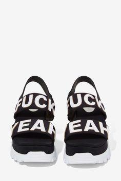 Jeffrey Campbell Ef Yeah Neoprene Sandal Sneaker... Walk the talk, y'all.