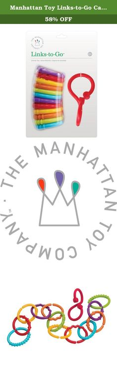 Manhattan Toy Links-to-Go Car Seat and Stroller Travel Accessory Set. Link, hang and twist. Plastic Links -To - Go set includes 12 colored links and 1 soft plastic hook that makes for easy hanging of links. Links come in six different colors and feature a variety of different molded shapes great for teething. For over 30 years, Manhattan Toy has been making award winning, high quality, visually appealing toys for babies, toddlers and kids. Manhattan Toy offers 500 exclusive, original…