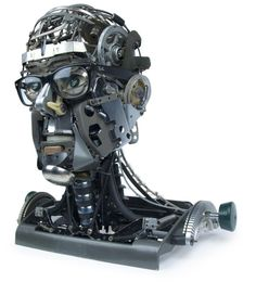 Sculpture made with TYPEWRITER PARTS - made by Jeremy Mayer