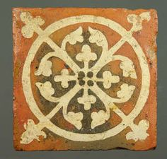 Medieval floor tile from Tintern Abbey. This item comes from: National Museums & Galleries of Wales (Item reference: 32.376/13). This tile was produced between 1272 and 1300 and measures 137 x 137mm.