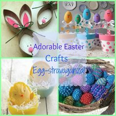 Adorable Easter Crafts Egg-stavaganza!