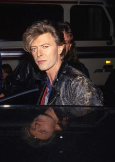 1987 David Bowie ~ Notice the reflection of David Bowie in the photo. :O)