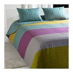 MALIN Bedspread and 2 cushion covers - Queen/King - IKEA