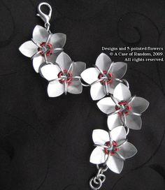 metal flower bracelet by A Case of Random