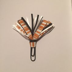 Orange Fall Multi Ribbon Planner Clip for FiloFax, Erin Condren, Day Planner, Kikki K, Plum Paper Planner, Happy Planner, EC by LyshaDreams on Etsy