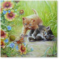 Kitten Painting. Aleksandr Prihodko.