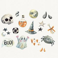This item is unavailable Halloween Symbols, Halloween Doodle, Fete Halloween, Halloween Clipart, Halloween Drawings, Holidays Halloween, Halloween Costumes For Kids, Halloween Themes, Happy Halloween