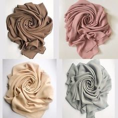 Picture 2 of 14 Fabric Photography, Clothing Photography, Muslim Fashion, Hijab Fashion, Scarf Display, Hijab Collection, Flatlay Styling, Scarf Design, Beautiful Hijab