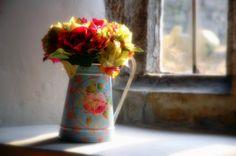 Love flowers in jugs