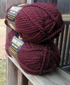 Lion Brand Wool Ease Yarn Claret Thick and Quick #yarn #knitting #crochet #red #purple