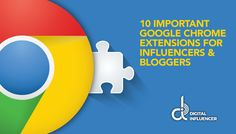Make the whole process of blogging and managing accounts easier with Google Chrome Extensions. Read here to know the 10 must have chrome extensions http://www.dinfluencer.com/blog/best-google-chrome-extensions-influencers-bloggers/