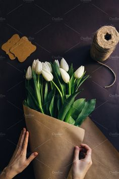 tulips bouquet for Mother's Day by Valeski on @creativemarket