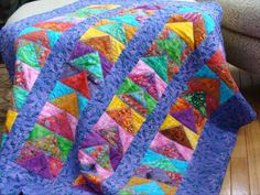 Crayon Tips, Crib Quilt