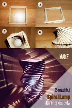 Spiral lamp step-by-step with dowels