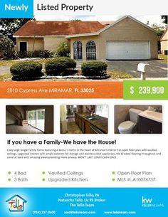 Newly listed property in #Miramar  2810 Cypress Ave MIRAMAR FL 33025