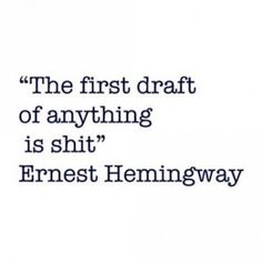 Most of us still submit the first draft coz there's no time to make it a masterpiece