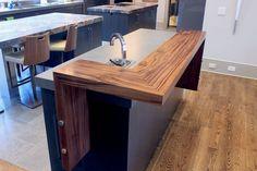 Walnut Countertops - J. Wood Bar Table, Wood Bar Stools, Slate Kitchen, Wooden Kitchen, Wooden Bar Top, Outdoor Wood Bar, Cafeteria Design, Reclaimed Wood Bars, Butcher Block Countertops