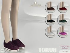 Madlen Torun SneakersNew jogging shoes for your sim! Come in 7 colours (suede texture). Joints are perfectly assigned. All LODs are replaced with new ones.You cannot change the mesh, but feel free to recolour it as long as you add original link in the description.If you can't see this creation in CAS, please update your game.If you're experiencing thumbnail problem, update your game (latest patch should solve the problem).Hope you'll like it!Enjoy!DOWNLOAD