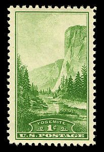 Yosemite National Park stamp, 1934.