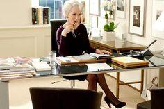 Meryl Streep in The Devil Wears Prada...