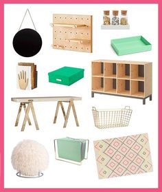 3 Ways to Organize + Style Your Craft Room for Spring via Brit + Co