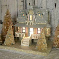 KD Vintage Christmas Beach Cottage II