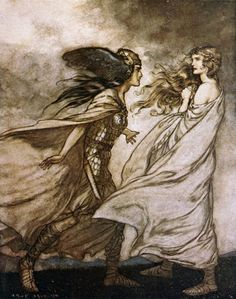 Arthur Rackham. Twilight of the Gods.