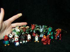 Christmas ornament hand made Polymer clay by redwyvernstudio, $29.95