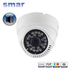 Mini HD 720P 960P IP Camera Audio Input With External Pickup Microphone Security Dome Indoor Camera IP Audio ONVIF P2P 24 IR Led #women, #men, #hats, #watches, #belts
