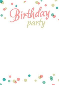 simple birthday party invitations