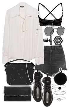 """""""Untitled #21000"""" by florencia95 ❤ liked on Polyvore featuring Alexander Wang, Plein Sud, Ray-Ban, AllSaints, Balenciaga, Simply Vera, STELLA McCARTNEY and Accessorize"""