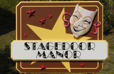 Stagedoor Manor Retail Sign | Danthonia Designs