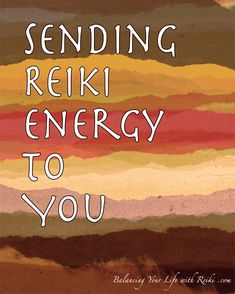 Sending Reiki Energy to You