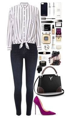 """""""Fashion."""" by ellie-directioner on Polyvore featuring мода, River Island, Equipment, Jimmy Choo, Vianel, Serge Lutens, Chanel, Burberry, Bobbi Brown Cosmetics и Christian Louboutin"""