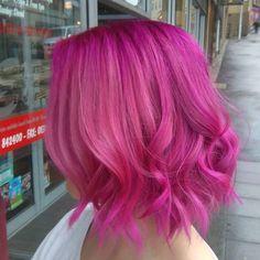 Pink Curly Bob