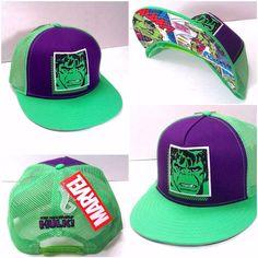 c455e56e5c3 NEW men women teen THE INCREDIBLE HULK SNAPBACK HAT Green Purple Trucker  Marvel  Marvel  Trucker