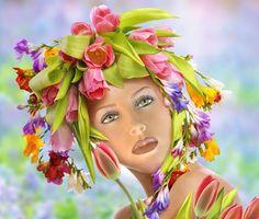 Foam Wig Flower Afro - Buscar con Google